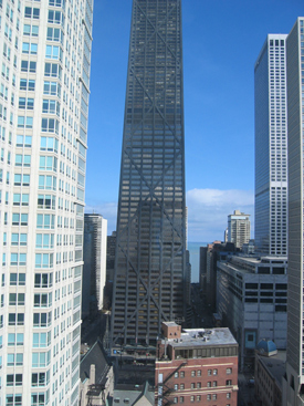 Hancock Tower view, Chicago