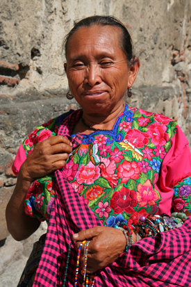 Colorful Guatemalan Woman