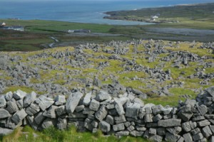 View through Cheval de Frise fortification at Inishmor