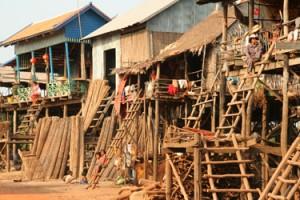 Kampong Khleang stilt houses