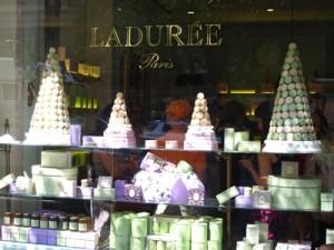 The window of Laduree NYC