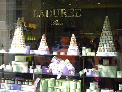 The window of Laduree NYC