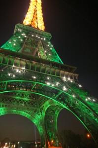Eiffel Tower when it Sparkles
