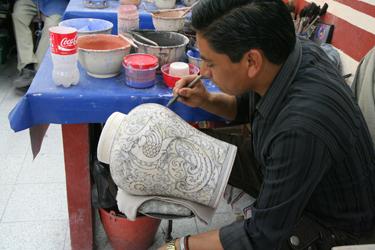 Hand painting Talavera
