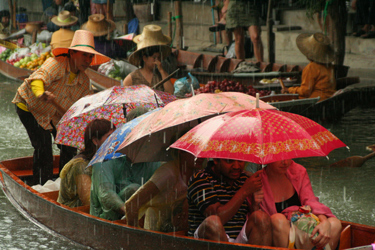 Torrential Rain at Floating Market