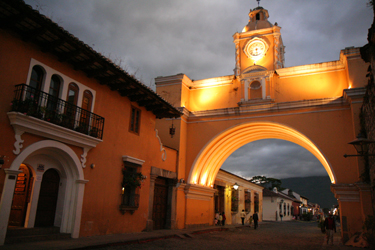 Antigua, Guatemala Arch at night