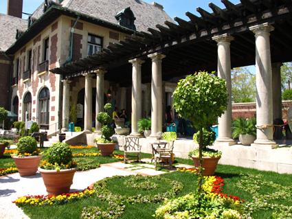 Mansion in May decorator garden