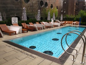 Pool at Dream Hotel, Meatpacking NYC