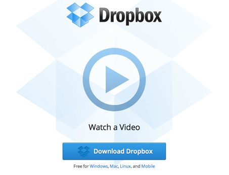 Link to Dropbox sign-up