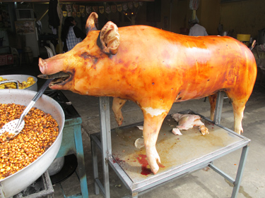 #EcuadoreanRoastPig golden roasted pig