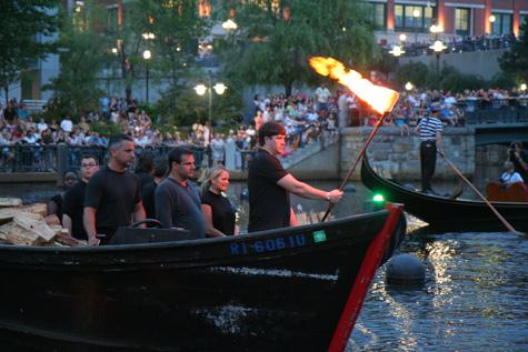 #Gondolari #Waterfire #ProvidenceRI