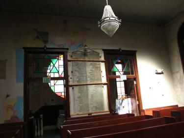 Men's Sanctuary Entrance-Stained Glassfront