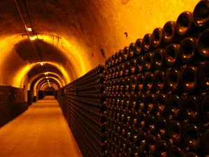 Aisles of Magnums of Ruinart Champagne