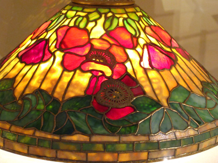 Tiffany Glass Shade with Poppies