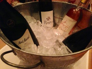 Wines in ice bucket at Corkbuzz