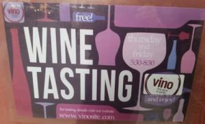 NYC Wine Tasting sign