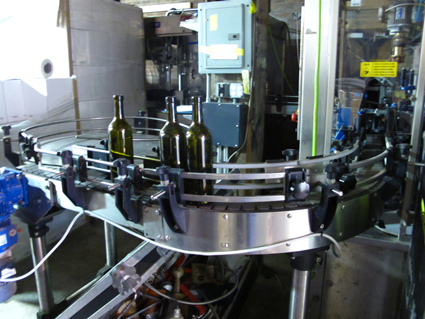 Red Hook Winery Bottling machine
