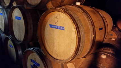 French Oak wine barrels at Red Hook Winery