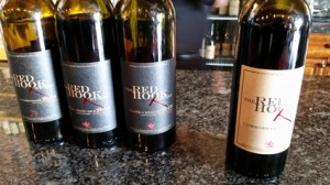 Red Hook Winery reserve wine line-up