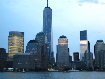 1 World Trade Center and NYC skyline