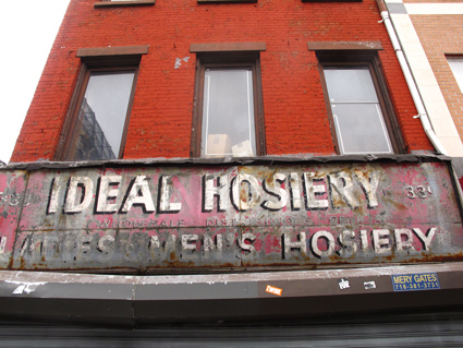 Ideal Hosiery sign, NYC