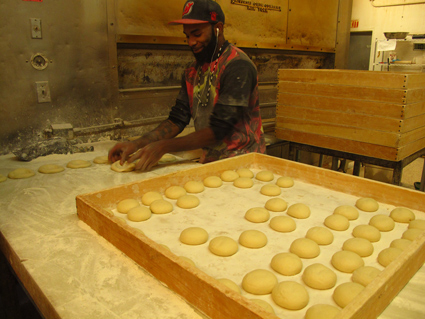 Kossar's Bialy maker, NYC