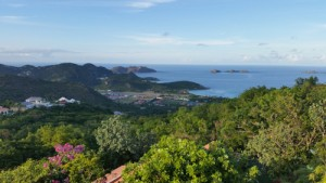 Mountaintop view of St. Barthelemy