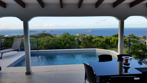 Saint Barth villa view