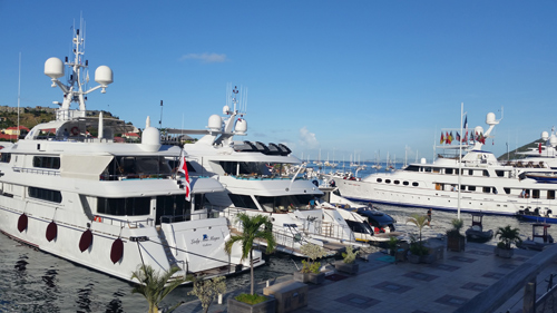 Yachts in Gustavia, St Barthelemy