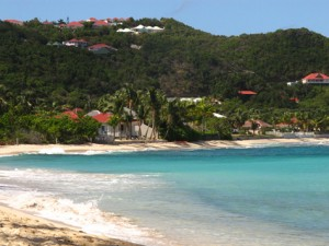 Beautiful Caribbean beach and sea on St. Barts