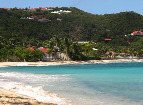 Beautiful Caribbean beach and sea on St. Barts