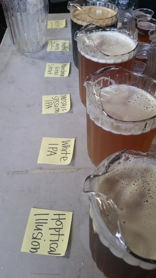 Beers tasted at Blue Point Brewery