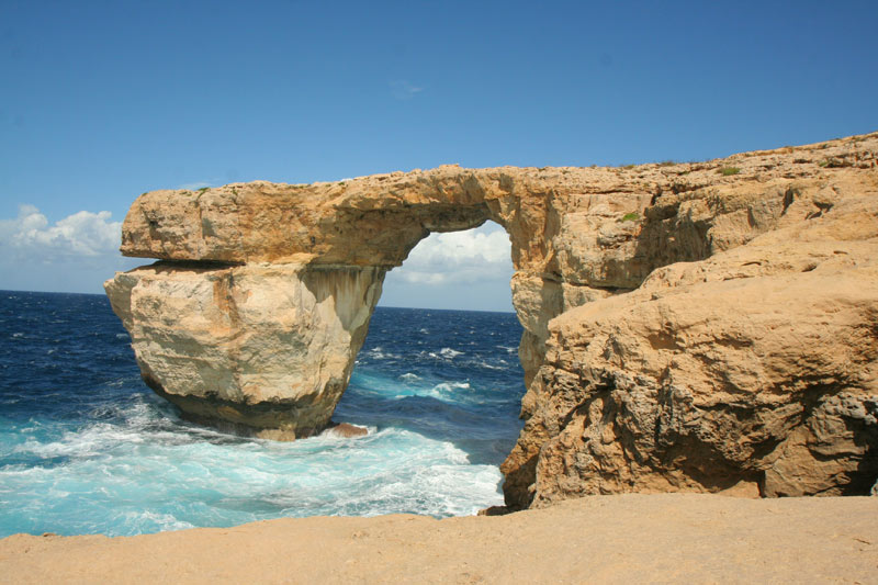 Azure Window and sea, Gozo, Maltese islands