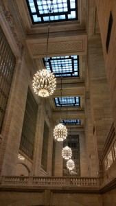Lighting fixtures in Grand Central Teminal, NYC