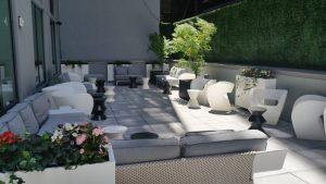 Innside New York's back patio