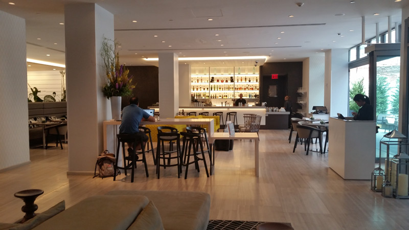 Work, dine or drink at Lobby Bar, Innside New York