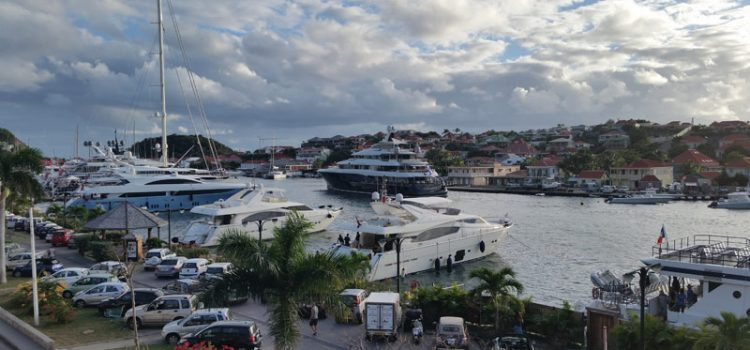 Gustavia, St. Barth harbor with Excellence arriving