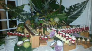 Dessert table at Coconut Bay