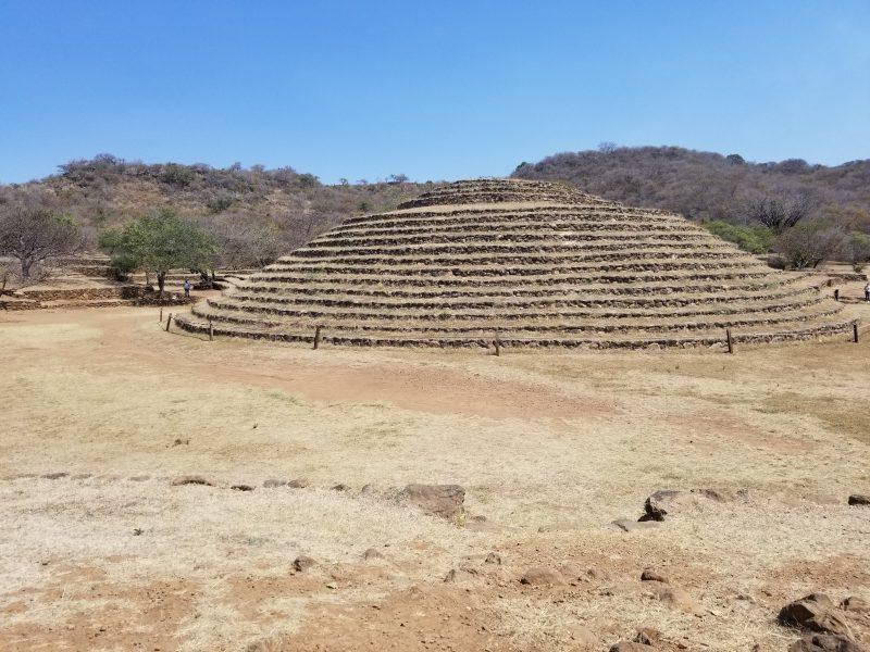 Circular mysterious pyramid near Guadalajara, Mexico