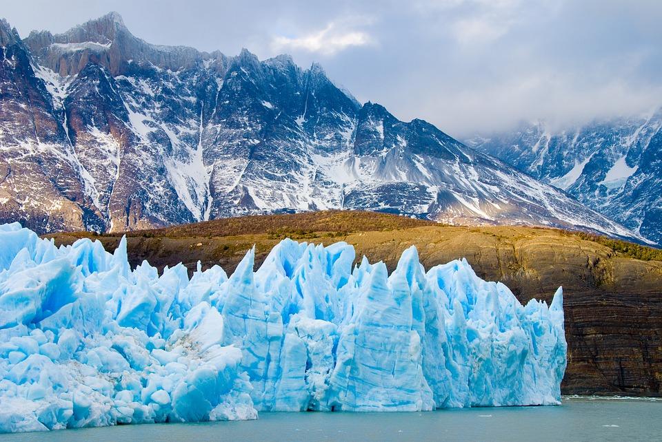 Chile, Patagonia, Glacier, ice flow